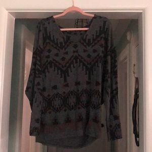 Sweaters - Aztec print sweater
